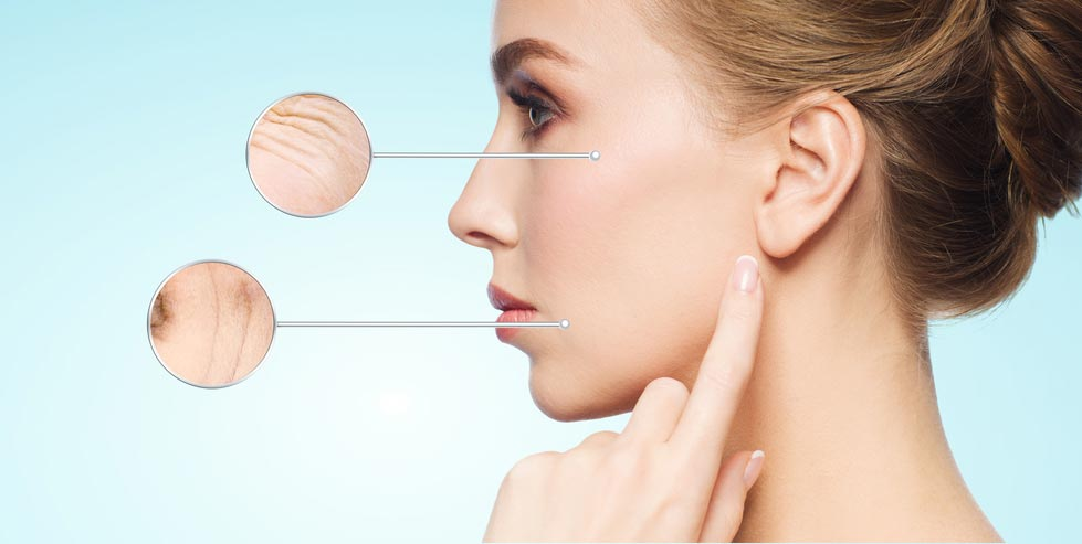 Wrinkles and fine lines commonly appear as you age