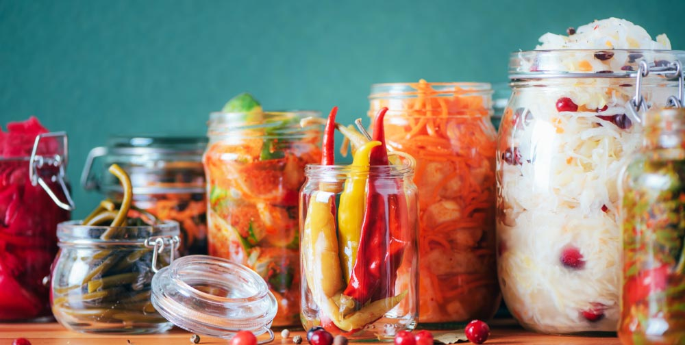 Fermented foods are a good sources of probiotics beneficial for your gut health