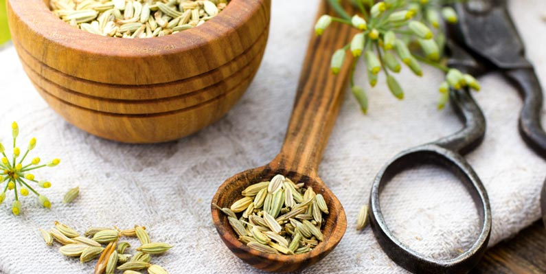 Fennel seeds are rich in vitamins that help to improve detox the body from toxins and wastes