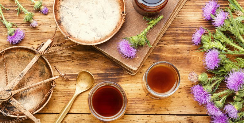 Milk thistle is a good natural detox plant that helps to maintain liver health